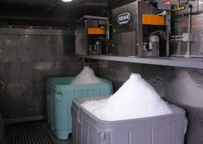 Brema-flake-ice-machine-installed-inside-a-shipping-container-conversion