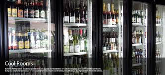 Refrigerated glass door fridge for displaying wine