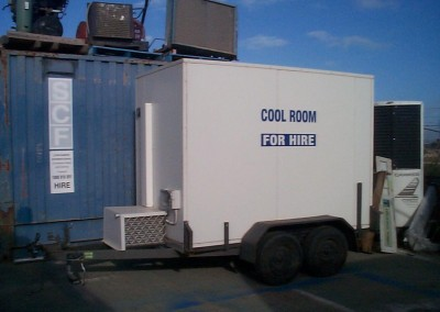 Our mobile cool room ready for delivery to client's location