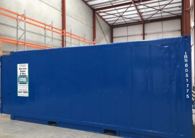 Refrigerated shipping container  in position inside Warehouse at Pooraka  S.A.