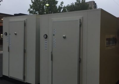 2 x 1300 Coldbox coolrooms installed in Gouger st for extra cool room capacity over Xmas