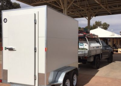 Our mobile cool room on its way to Alice Springs