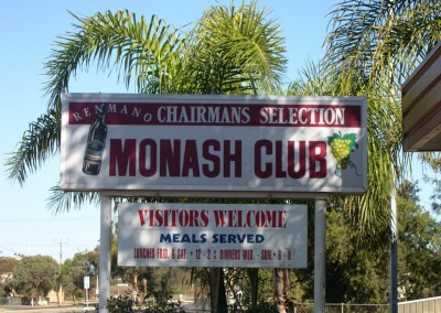 Commercial Refrigeration Adelaide installed  and maintained cool rooms and freezers for Monash Club between Renmark and Berri, South Australia