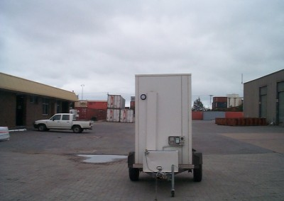 Mobile cool room ready for installation