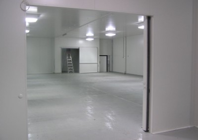 Double door built to allow for forklift to manoeuvre within  multi cool rooms in Adelaide metropolitan area
