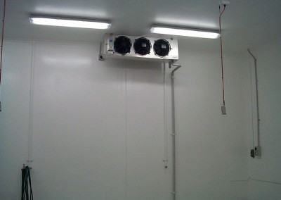 Installing cool room operating plant in suburban Adelaide