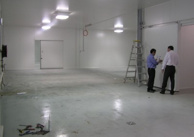 Installing a cool room in an installation of multiple cool rooms in a suburb of Adelaide