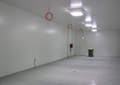 Storage area built and ready for the installation of cool rooms in South Australia