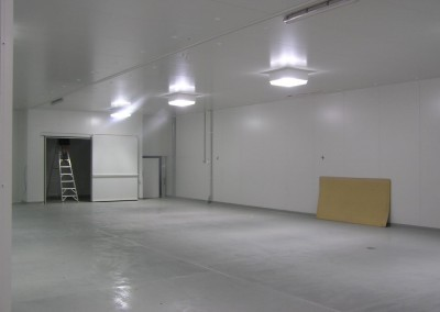 A cool room facility built so trucks can access under cover Adelaide South Australia