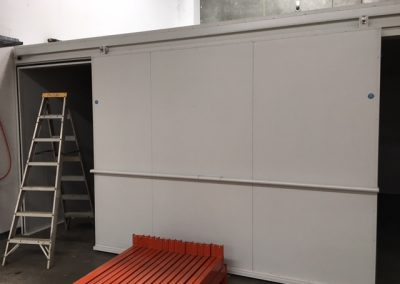 A sliding door to allow for maximum access in a commercial cool room in Adelaide