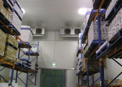 Cool room available for hire, with sufficient height to allow forklift access and the ability to multi stack pallets