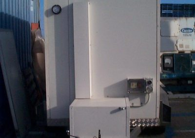 Mobile cool room for hire with typical layout