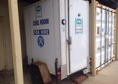 Mobile cool rooms mounted on trailers which can be towed by a Commercial refrigeration designed car