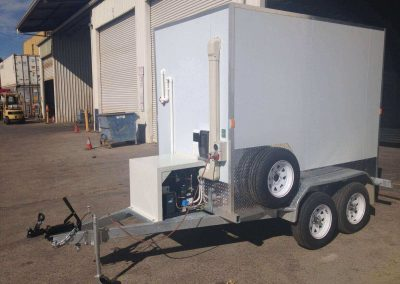 A view of a mobile cool-room built by Commercial Refrigeration Adelaide