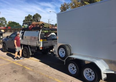 On-site, delivering this mobile cool room in Coober Pedy
